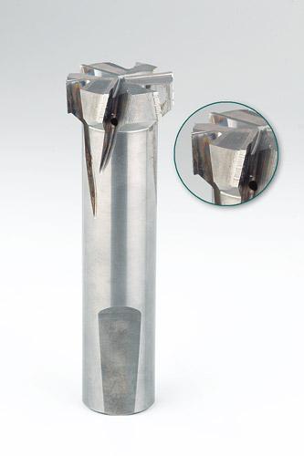 VHM-Formfräser 6-Schneiden rechts kreuz- verzahnt mit Spanbrecher